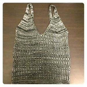 Grey cropped cami